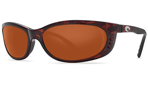 Costa Del Mar Fathom 580G Fathom, Tortoise Frame Global Fit Copper, - Fathom Costas