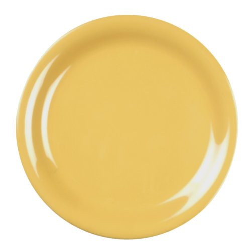 Global Goodwill Coleur Series 12-Pieces Narrow Rim Plate, 10-1/2-Inch, Coleur Yellow