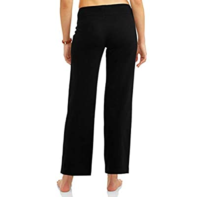 Athletic Works Women's Relaxed Fit Dri-More Core Cotton Blend Yoga Pants Available in Regular and Petite at Women's Clothing store