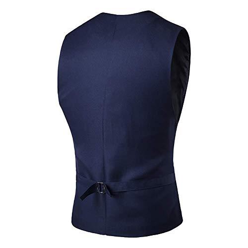 Style 2 1 V Pour Avec 3 couleur 2018 Design Hommes Slim Gilet Sans Manches Col Fit En Fuweiencore Taille coloré Taille Xxl ZwqFff