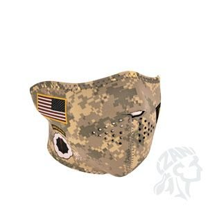 Zan Headgear Neoprene 1/2 Face Mask, U.S. Army, Combat ()