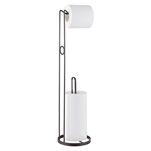 Maunsell Free Standing Toilet Tissue Paper Holder | Dispanser and Spare Roll Storage for Bathroom | Bronze by Maunsell