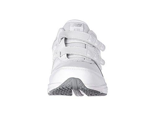 (ニューバランス) New Balance レディースウォーキングシューズ?靴 WW411v2 Hook-and-Loop White 11 (28cm) B - Medium
