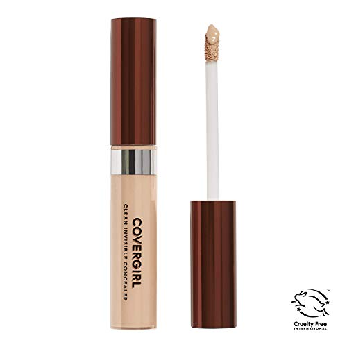 COVERGIRL Clean Invisible Lightweight Concealer, 1 Tube (0.32 oz), Light Tone, Liquid Concealer with Soft Tip Applicator (packaging may vary)