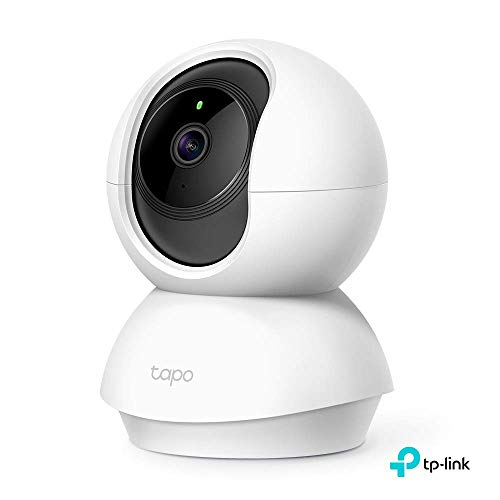 TP-Link Tapo Smart Cam Pan Tilt Home WiFi Camera | Wireless Indoor Security Camera 1080p (Full HD) | Up to 30 ft Night Vision | Up to 128 GB microSD Card Slot | Works w/Alexa and Google (Tapo C200)