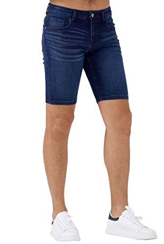ZLZ Slim Jean Short for Men, Men's Casual Stretch Slim Fit Denim Short (Blue, 38)