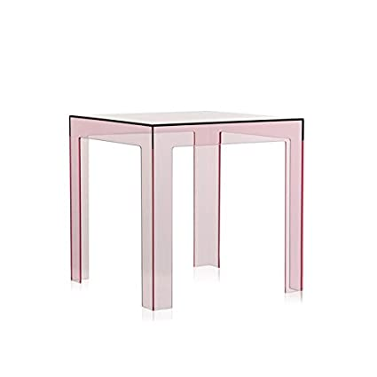 Kartell Jolly   Transparent Pink Small Side Table (Original Made In Italy)