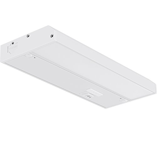 GetInLight 3 Color Levels Dimmable LED Under Cabinet Lighting with ETL Listed, Warm White (2700K), Soft White (3000K), Bright White (4000K), White Finished, 9-inch, - 9 Fixture Inch Cabinet Under