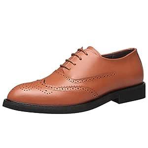 Vaycally Zapato formal para hombre Zapatos hechos a mano con suela ...
