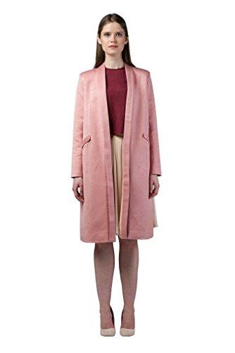 Imaima Women Long Slim Fit Cut Shiny Maxi Tan Coat Summer Coats 100% Cotton by Imaima (Image #2)