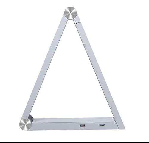 Drahtlose Schreibtischlampe Mit Dreieck 2 USB-Ladeanschluss 96LED Lichtquelle Faltbare Touch-Nachttischlampe Augenschutz Nachtlicht Kinderzimmer-Leselampe (Faltbar)
