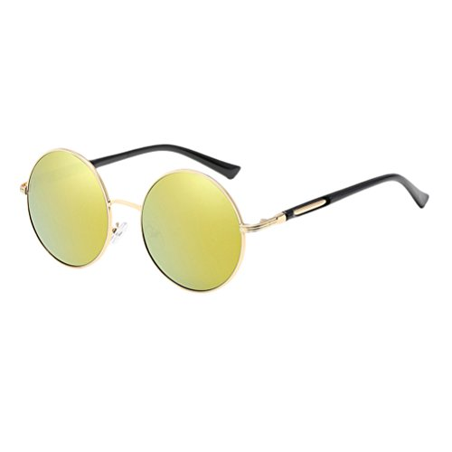 gafas Gold Frames Mirror Con Round Unisex amp;gold estuche de Sunglasses Polarized Design Womens Zhuhaitf Mens Oversized Fashionable for fax877