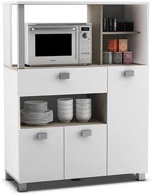 Abitti Mueble Auxiliar de Cocina en Color Blanco con un Cajon y ...