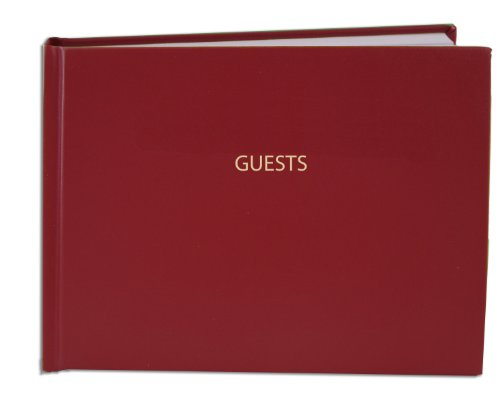 (BookFactory Guest Book (120 Pages) / Guest Sign-in Book/Guest Registry/Guestbook - Red Cover, Smyth Sewn Hardbound, 8 7/8