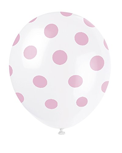 Latex Light Pink Polka Balloons product image