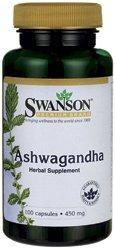 Ашвагандха в порошке, 450 мг, 100 табл. (Swanson Premium Ashwagandha Powder 450 mg 100 Gelatin Caps)