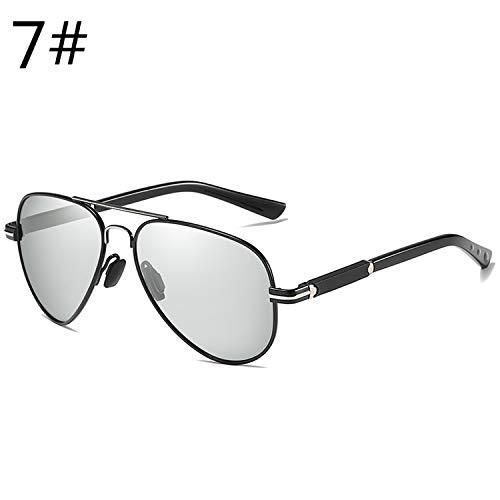 Men Vintage HD Polarized Sunglasses Pilot Glasses Male Spectacles Shades For Men Woman Eyewear Accessories,07