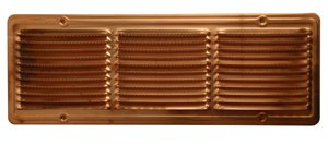Copper Rectangular Vent with screen - 6'' x 16''