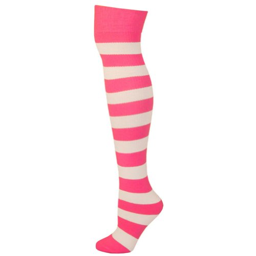 Chaussettes Blanc Pink Hot Ajs Rayées Sja Adultes O0wgd6dq