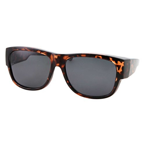 Women Polarized Fit Over Sunglasses - Less Bulky, Ladies Size (Tortoise ()