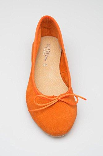 Femme Shoes Silfer Arancione Orange Pour Ballerines xtdw8qd