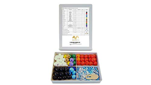 Organic Chemistry Molecular Model Kit (200 Pieces) - Student or Teacher Pack with Atoms, Bonds, and Remover by Modig Market LLC
