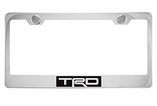 (TRD Chrome License Plate Frame with Caps)