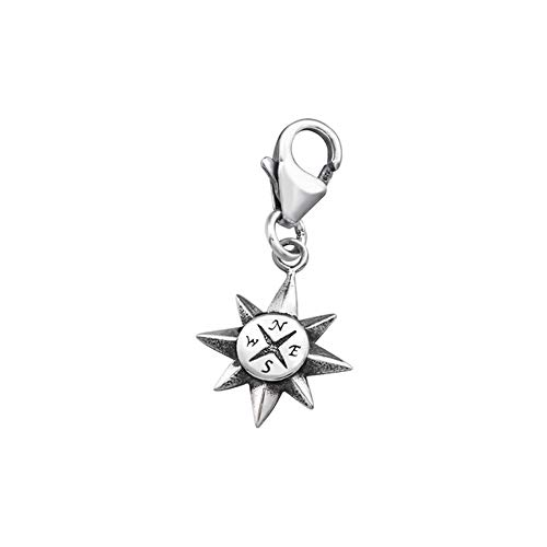 Compass Clip On Charms 925...