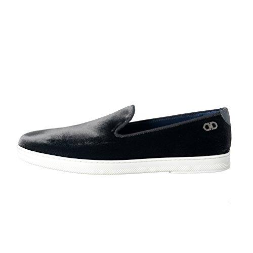 Salvatore Ferragamo Leblanc Mens Velour Mocassini Slip On Casual Shoes Us 13ee It 12ee Eu 46ee