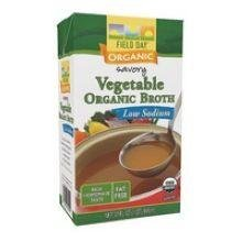 Field Day Organic Low Sodium Vegetable Broth, 32 Fluid Ounce - 12 per case.