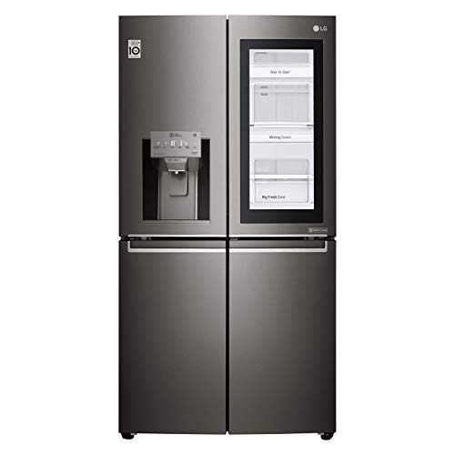 LG 889 Litres Side by Side Refrigerator with InstaView Door in Door, Stainless Steel – GR-X39FTKHL, 1 Year Warranty