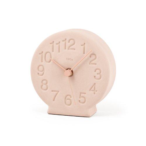 Lemnos 珪藻土の置時計 ピンク NY13-15 PK B00H93LU1O ピンク ピンク