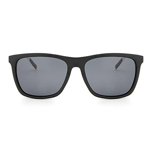 aluminio de vidrios Los manera sol las Black Marco los cuadrado de de la sol que conducía hombres gray de gafas Ruanyi de nuevos UV400 polarizaron magnesio vaxnq1RRd