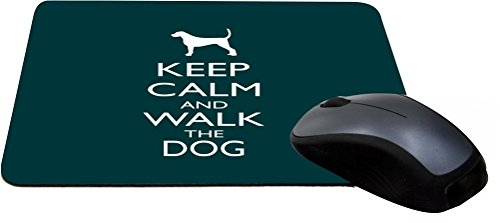 Rikki Knight Keep Calm and Walk the Dog - Green Color Lightning Series Gaming Mouse Pad