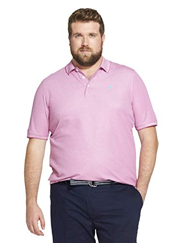 (IZOD Men's Advantage Performance Solid Polo (Big Tall Slim),  Rosebud, 3X-Large Tall)