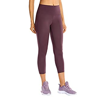 CRZ YOGA High Waisted Capri Workout Leggings for Women Hugged Feeling Athletic Compression Leggings -21 Inches Arctic Plum 21'' XX-Small