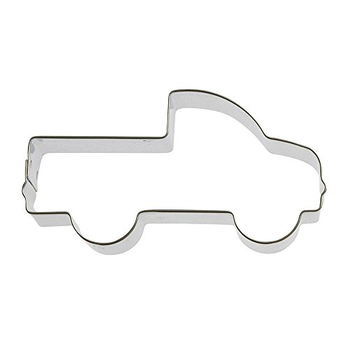 (Pick Up Truck Cookie Cutter 4 in B1649 - Foose Cookie Cutters - USA Tin Plate)