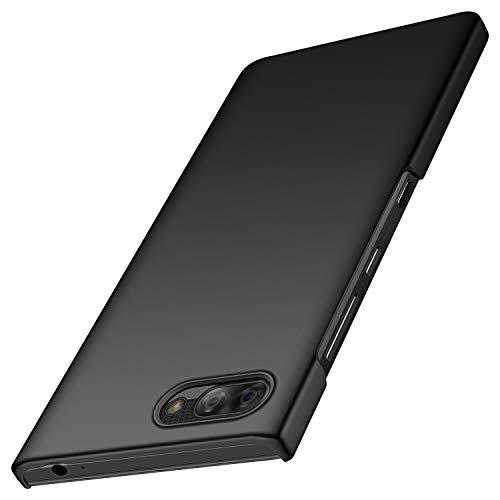 BlackBerry KEY2 LE Case, TopACE BlackBerry KEY2 LE Back Cover Slim Hybrid Rubberised Hard Case for BlackBerry KEY2 LE Smartphone (Black)