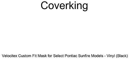 Coverking Custom Fit Front End Mask for Select Chevrolet S10 Models Black Velocitex Plus