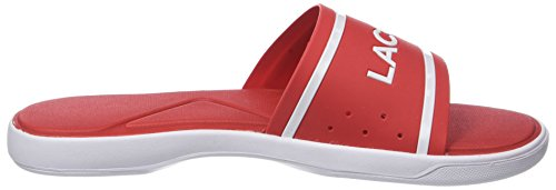 Slide 30 L 17k Homme Lacoste 218 Red Rouge Wht Cam 1 Tongs Eq1SnRxw