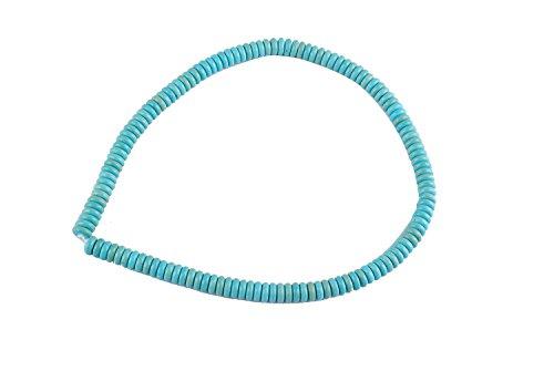 Femitu (1 Strand) 8mm Rondelle Loose Gemstone Turquoise Beads 16