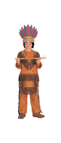 American Indian Teepee Native (Native American Boy Costume - Child - Small)
