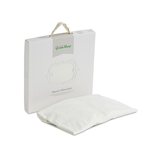 (The Little Green Sheep 70 x 140 cm Organic Cot Bed Jersey Fitted Sheet)