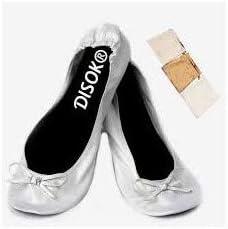 Lote de 20 pares de Bailarinas Plegables para Bodas Color PLATA ...