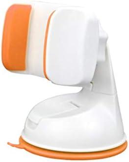 車の吸引のコップブラケット、車の電話ホールダーの空気出口の運行ブラケット360°回転式満ちる座席 (色 : White orange)