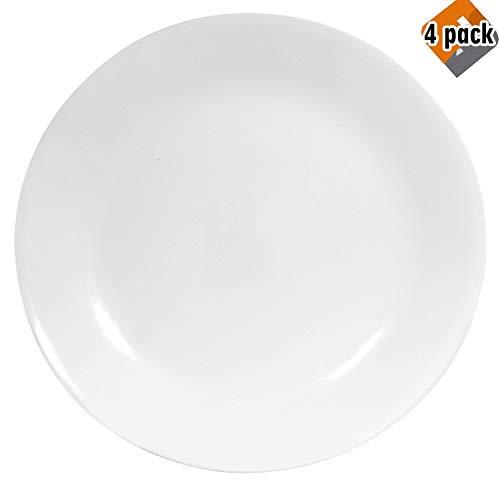 Corelle Winter Frost White Dinner Plates Set (10-1/4-Inch, 6-Piece), 4 Pack (Cheap Corelle Dinnerware)