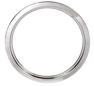 Porcelain Trim Ring - Stanco Range Trim Ring Fits G.E. & Hotpoint Electric Ranges Chrome Plated Steel, Porcelain 8 In.