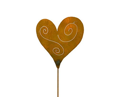 Heart Rusty Metal Garden Stake