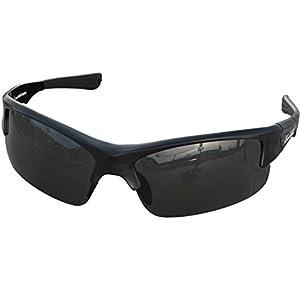 Foot Forward Polarized Sports Shield Sunglasses, Adjustable Shades for Running, Fishing, Cycling, Baseball, Softball, Tennis, Dark, Wrap Around