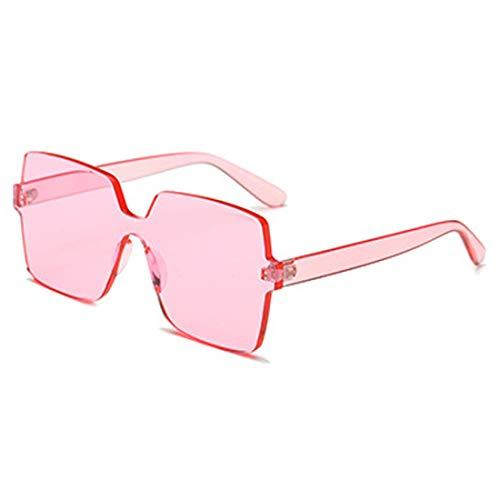 Mode Soleil Rose Carré Bonbon Lentille Couleur Unisexe Surdimensionnées De Yefree Transparent Lunettes qTxWSEnwPt
